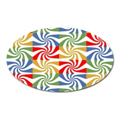 Candy Pattern  Oval Magnet