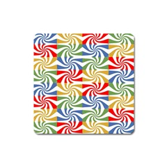 Candy Pattern  Square Magnet