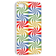 Candy Pattern  Apple Iphone 4/4s Seamless Case (white) by Nexatart