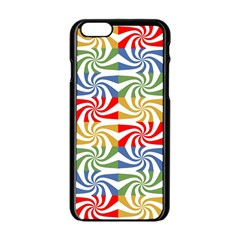 Candy Pattern  Apple Iphone 6/6s Black Enamel Case by Nexatart