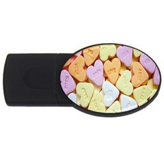 Candy Pattern Usb Flash Drive Oval (4 Gb) by Nexatart