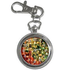 Candles Christmas Market Colors Key Chain Watches by Nexatart