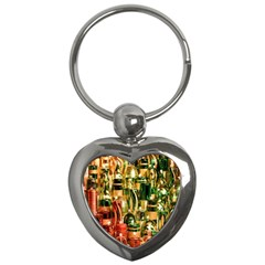 Candles Christmas Market Colors Key Chains (heart)