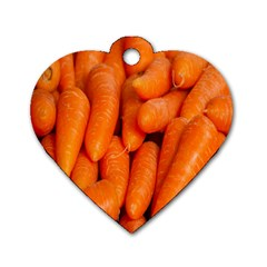 Carrots Vegetables Market Dog Tag Heart (two Sides)