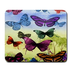Butterfly Painting Art Graphic Large Mousepads