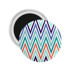 Chevrons Colourful Background 2 25  Magnets by Nexatart