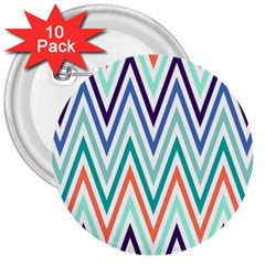 Chevrons Colourful Background 3  Buttons (10 Pack)