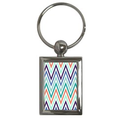 Chevrons Colourful Background Key Chains (rectangle)