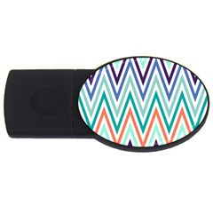 Chevrons Colourful Background Usb Flash Drive Oval (4 Gb)
