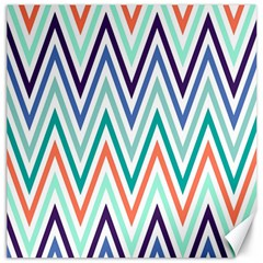Chevrons Colourful Background Canvas 20  X 20   by Nexatart