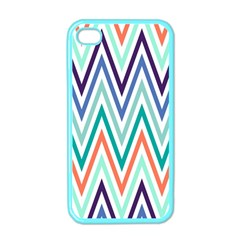 Chevrons Colourful Background Apple Iphone 4 Case (color) by Nexatart