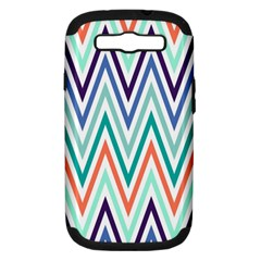 Chevrons Colourful Background Samsung Galaxy S Iii Hardshell Case (pc+silicone) by Nexatart