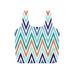 Chevrons Colourful Background Full Print Recycle Bags (s)  by Nexatart