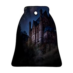 Castle Mystical Mood Moonlight Bell Ornament (two Sides) by Nexatart