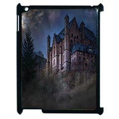 Castle Mystical Mood Moonlight Apple Ipad 2 Case (black) by Nexatart