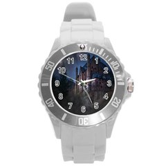 Castle Mystical Mood Moonlight Round Plastic Sport Watch (l)