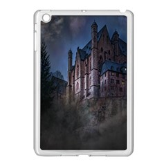 Castle Mystical Mood Moonlight Apple Ipad Mini Case (white) by Nexatart