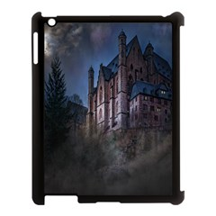 Castle Mystical Mood Moonlight Apple Ipad 3/4 Case (black) by Nexatart