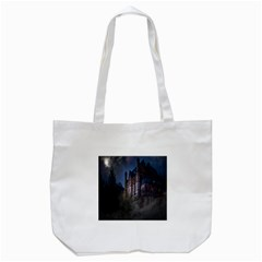 Castle Mystical Mood Moonlight Tote Bag (white) by Nexatart