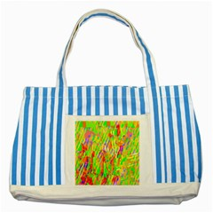 Cheerful Phantasmagoric Pattern Striped Blue Tote Bag