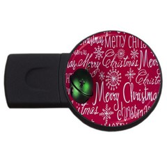 Christmas Decorations Retro Usb Flash Drive Round (2 Gb) by Nexatart