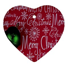 Christmas Decorations Retro Heart Ornament (two Sides) by Nexatart