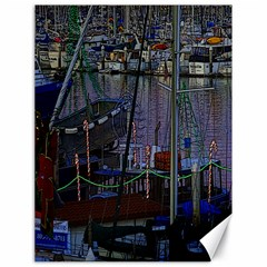 Christmas Boats In Harbor Canvas 18  X 24   by Nexatart