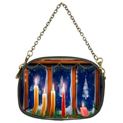 Christmas Lighting Candles Chain Purses (two Sides)  by Nexatart