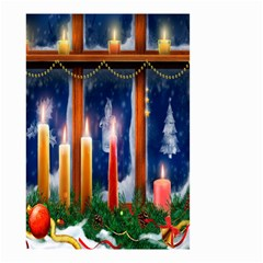 Christmas Lighting Candles Small Garden Flag (two Sides)