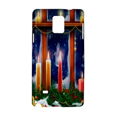 Christmas Lighting Candles Samsung Galaxy Note 4 Hardshell Case by Nexatart