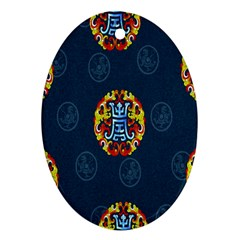 China Wind Dragon Oval Ornament (two Sides)