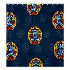 China Wind Dragon Shower Curtain 66  X 72  (large)  by Nexatart