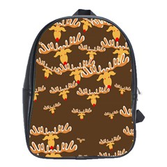 Christmas Reindeer Pattern School Bags (xl)