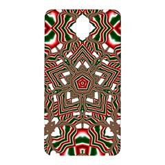 Christmas Kaleidoscope Samsung Galaxy Note 3 N9005 Hardshell Back Case by Nexatart
