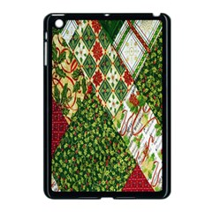 Christmas Quilt Background Apple Ipad Mini Case (black)