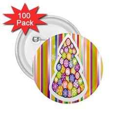 Christmas Tree Colorful 2 25  Buttons (100 Pack)  by Nexatart