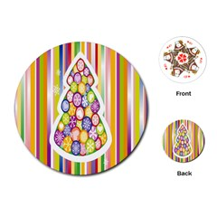 Christmas Tree Colorful Playing Cards (round)  by Nexatart