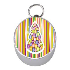 Christmas Tree Colorful Mini Silver Compasses