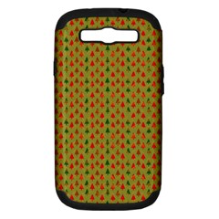 Christmas Trees Pattern Samsung Galaxy S Iii Hardshell Case (pc+silicone) by Nexatart