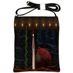 Christmas Xmas Bag Pattern Shoulder Sling Bags