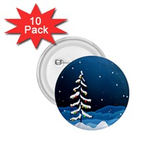 Christmas Xmas Fall Tree 1 75  Buttons (10 Pack) by Nexatart