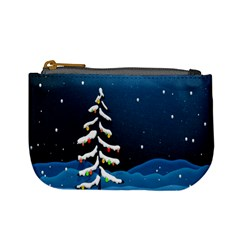 Christmas Xmas Fall Tree Mini Coin Purses by Nexatart