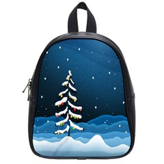 Christmas Xmas Fall Tree School Bags (small)  by Nexatart