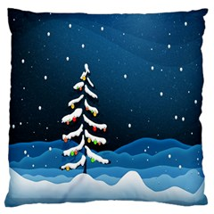 Christmas Xmas Fall Tree Standard Flano Cushion Case (two Sides) by Nexatart