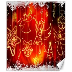 Christmas Widescreen Decoration Canvas 20  X 24   by Nexatart