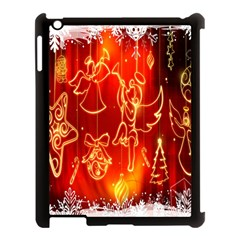 Christmas Widescreen Decoration Apple Ipad 3/4 Case (black) by Nexatart