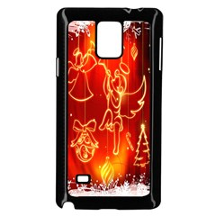 Christmas Widescreen Decoration Samsung Galaxy Note 4 Case (black)