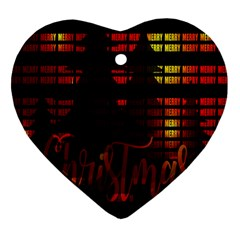 Christmas Advent Gloss Sparkle Heart Ornament (two Sides) by Nexatart