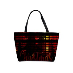 Christmas Advent Gloss Sparkle Shoulder Handbags by Nexatart