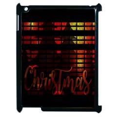 Christmas Advent Gloss Sparkle Apple Ipad 2 Case (black) by Nexatart